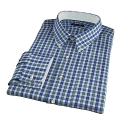 Vincent Sage and Indigo Plaid Dress Shirt