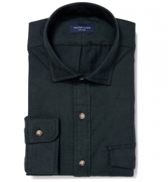 Teton Hunter Green Flannel Dress Shirt