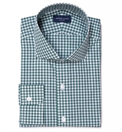 Lorimer Forest Green Check Custom Made Shirt