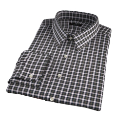Lorimer Green and Orange Plaid Men's Dress Shirt