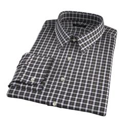 Lorimer Green and Orange Plaid Men's Dress Shirt
