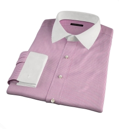 Carmine Crimson Small Grid Custom Dress Shirt