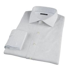 Canclini 120s Sky Blue Large Grid Custom Dress Shirt