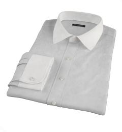Stanton 120s Grey End-on-End Custom Dress Shirt