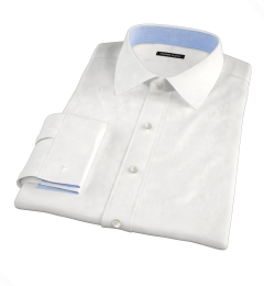 Miles White 120s Broadcloth Dress Shirt