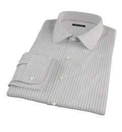 Japanese Lavender and Grey Stripe Dress Shirt