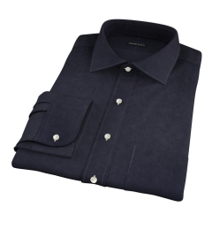 Black 100s Broadcloth Custom Made Shirt