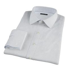 Mercer Light Blue Medium Grid Custom Made Shirt