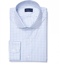 Cooper Light Blue on Blue Check Dress Shirt