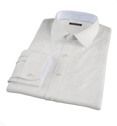 Thomas Mason White Fine Twill Tailor Made Shirt