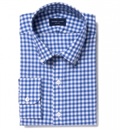 Canclini Royal Gingham Lightweight Flannel Fitted Shirt