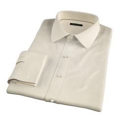 Genova 100s Yellow End-on-End Fitted Shirt
