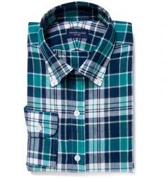 Dorado Green Plaid Custom Dress Shirt
