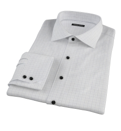 Greenwich Blue Twill Check Tailor Made Shirt