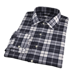 Canclini Grey Plaid Beacon Flannel Tailor Made Shirt