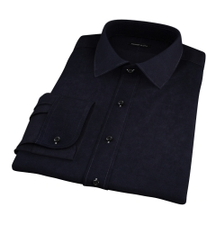 Black 100s Twill Fitted Shirt