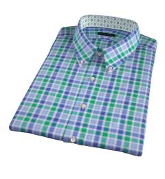 Green Large Multi Check Short Sleeve Shirt