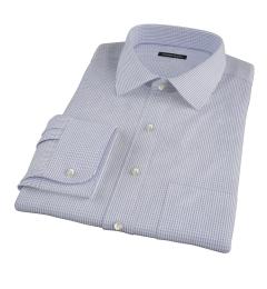 Canclini Navy Multi-Check Custom Made Shirt