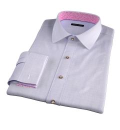 Lazio 120s Lavender Multi Grid Custom Made Shirt