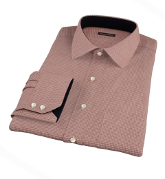 Canclini Cedar Houndstooth Beacon Flannel Tailor Made Shirt