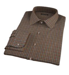 Brown Tartan Dress Shirt