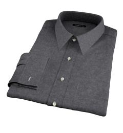 Canclini Charcoal Herringbone Flannel Fitted Shirt