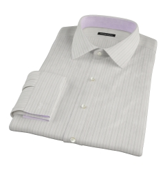 Lavender Grey Dobby Stripe Custom Made Shirt