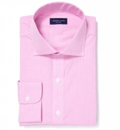 Waverly Pink Check Fitted Dress Shirt