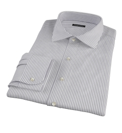 Canclini Black Stripe Men's Dress Shirt