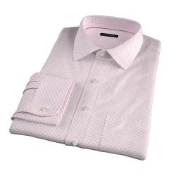 Hibiscus Japanese Flower Print Men's Dress Shirt
