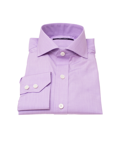 Canclini Lavender End on End Fitted Dress Shirt