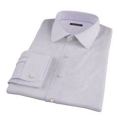 Canclini Lavender Stripe Fitted Shirt