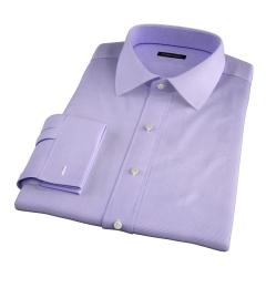 Thomas Mason Lavender Wrinkle-Resistant Houndstooth Dress Shirt