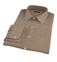 Canclini Fatigue Oxford Flannel Custom Dress Shirt