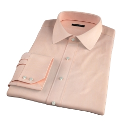Genova 100s Apricot End-on-End Fitted Dress Shirt