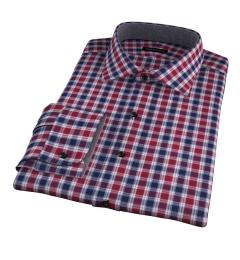 Vincent Crimson and Navy Plaid Custom Made Shirt