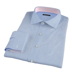 Carmine Blue Reverse Bengal Stripe Dress Shirt