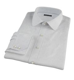 Lavender and Black Fine Satin Stripe Fitted Dress Shirt