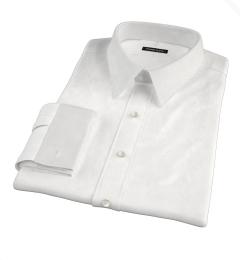 Thomas Mason White Fine Twill Dress Shirt