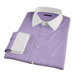 Granada Lavender Print Fitted Shirt