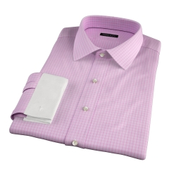 Chambers Pink Wrinkle-Resistant Check Custom Made Shirt