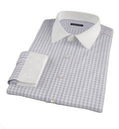 Canclini Cinder Gingham Flannel Fitted Shirt