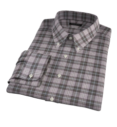 Jackson Olive Tartan Flannel Fitted Shirt