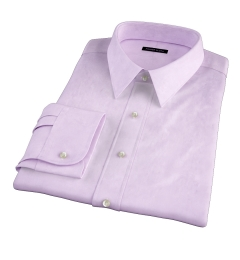 Thomas Mason Lavender Pinpoint Custom Made Shirt