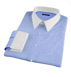 Canclini Light Blue Linen Men's Dress Shirt