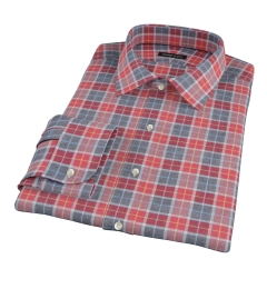 Rust Dock Street Flannel Fitted Shirt