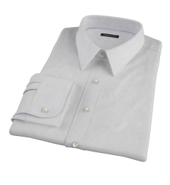 Canclini Grey Donegal Flannel Fitted Dress Shirt
