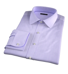 Firenze 120s Lavender Multi Grid Dress Shirt