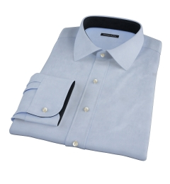 Canclini Light Blue Herringbone Dress Shirt
