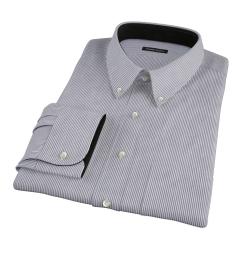 Carmine Black Pencil Stripe Tailor Made Shirt